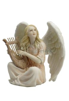 Angel Sitting with a Lyre