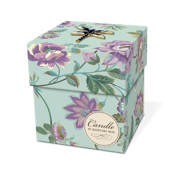 Candle with Dragonfly Brooch Box