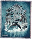 Celtic Dolphins Tapestry Blanket