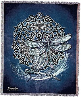 Celtic Dragonflies Tapestry Blanket