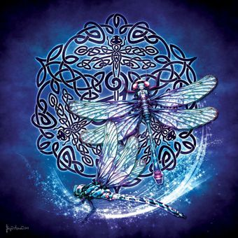 Celtic Dragonfly Jigsaw Puzzle (1000 pcs)