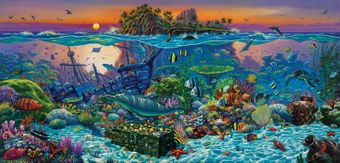 Coral Reef Island Puzzle - 1000 pcs