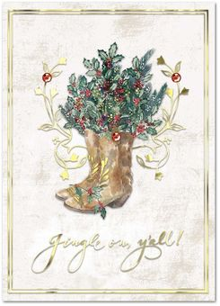 Cowboy Boots Christmas Cards