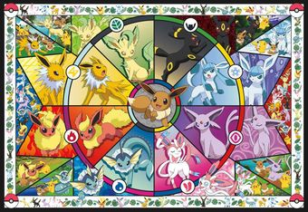 Eevee's Stained Glass Jigsaw Puzzle (2000 Pieces)