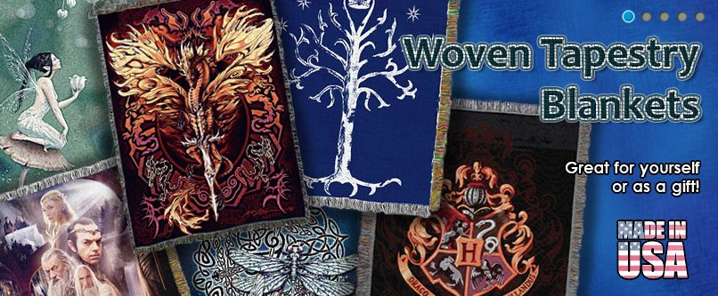 Fantasy Tapestry Throw Blankets