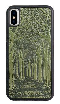 Fern Avenue of Trees Leather iPhone Case