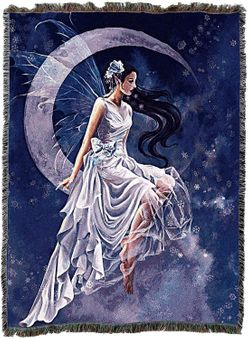 Frost Moon Tapestry Blanket