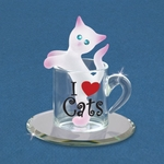 Glass Kitty Cup