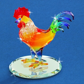 Glass Sunrise Rooster