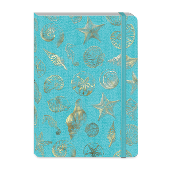 Gold Shells Soft Cover Journal