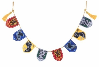 Harry Potter Hogwarts House Emblem Garland