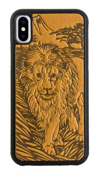 Lion Leather iPhone Case