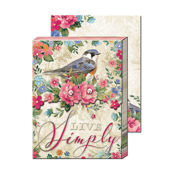 Live Simply Bird Pocket Note Pad