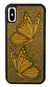 Marigold Butterfly Leather iPhone Case