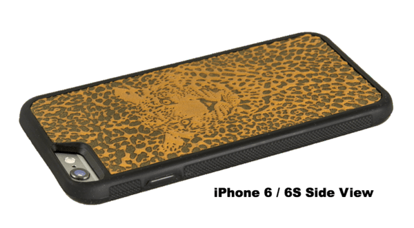 newest 86c00 436f6 Marigold Leopard Leather iPhone Case