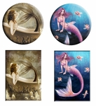 Mermaid Button & Magnet Set