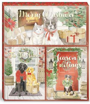 Merry Pets Holiday Card Trio Set
