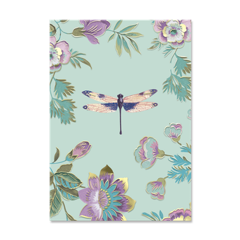 Mint Dragonfly Decorative Pouch Note Cards