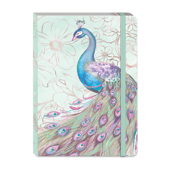 Mint Peacock Soft Cover Journal