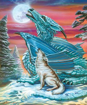 Moon Song Dragon & Wolf Jigsaw Puzzle (1000 pcs)
