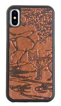 Brown Mr. Fox Leather iPhone Case