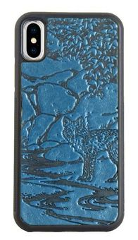 Blue Mr. Fox Leather iPhone Case