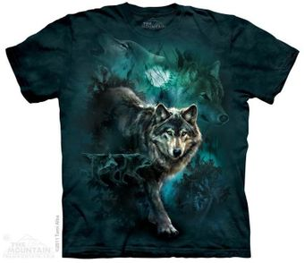 Night Wolves Collage Tee Shirt