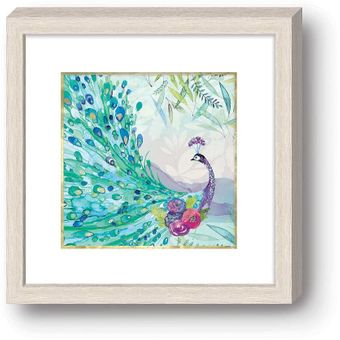 Pagoda Peacock Framed Wall Art