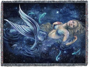 Swimming in Starlight Woven Tapestry Blanket