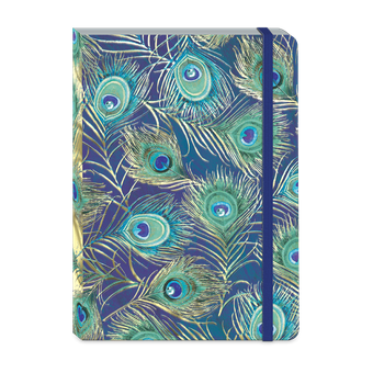 Peacock Feathers Soft Cover Journal