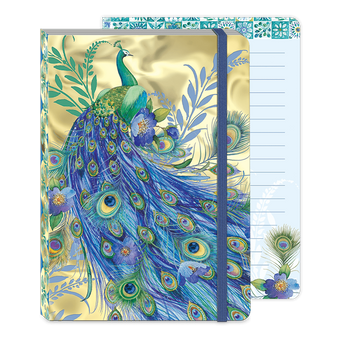 Peacock Gold Soft Cover Journal
