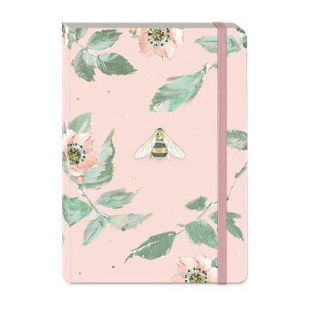 Pink Bee Soft Cover Journal