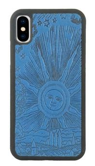 Blue Roof of Heaven Leather iPhone Case