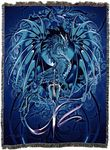 Sea Blade Dragon Tapestry Blanket
