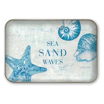 Sea Sand Waves Decorative Tray