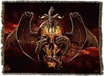 Skull Dragon Tapestry Blanket
