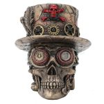 Steampunk Crossbone Top Hat Skull