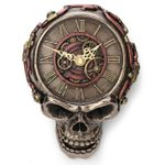 Steampunk Flat Skull Wall Clock