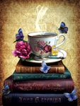 Tea and Books Jigsaw Puzzle