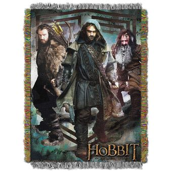 The Hobbit We Fight Tapestry Throw Blanket