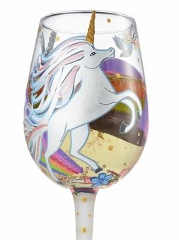 Unicorn & Fairy Wine glass