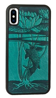 Water Lily Koi Leather iPhone Case