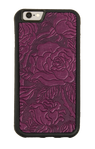 Wild Rose Leather iPhone Case