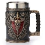Winged Skull Crest Beer Stein