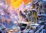 Winter Wolf Family Jigsaw Puzzle (1000 Pieces)
