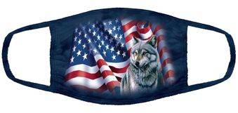 Wolf Flag Face Mask