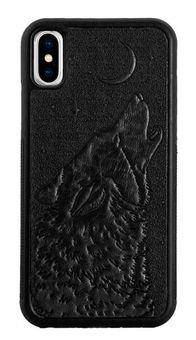 Wolf Leather iPhone Case