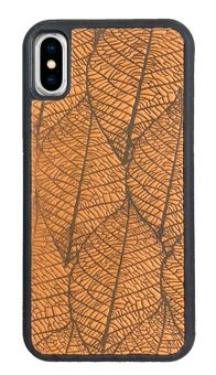 Yellow Fallen Leaves Leather iPhone Case