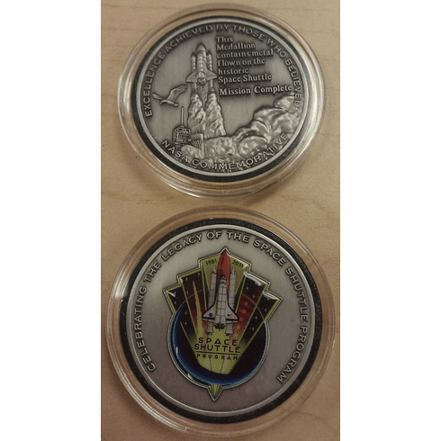 Space Shuttle Program Medallion in Silver