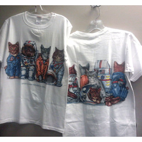 Spacecats Adult T-Shirt